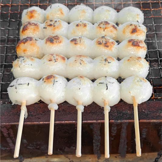 五王製菓のみたらし団子。美味しい焼き方